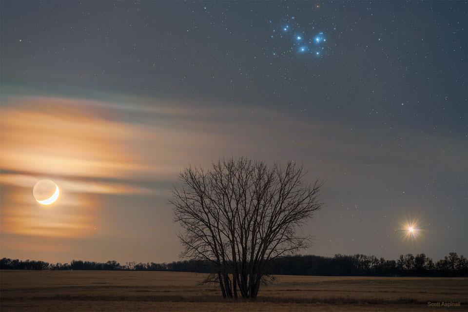 Triangle cosmique au Saskatchewan