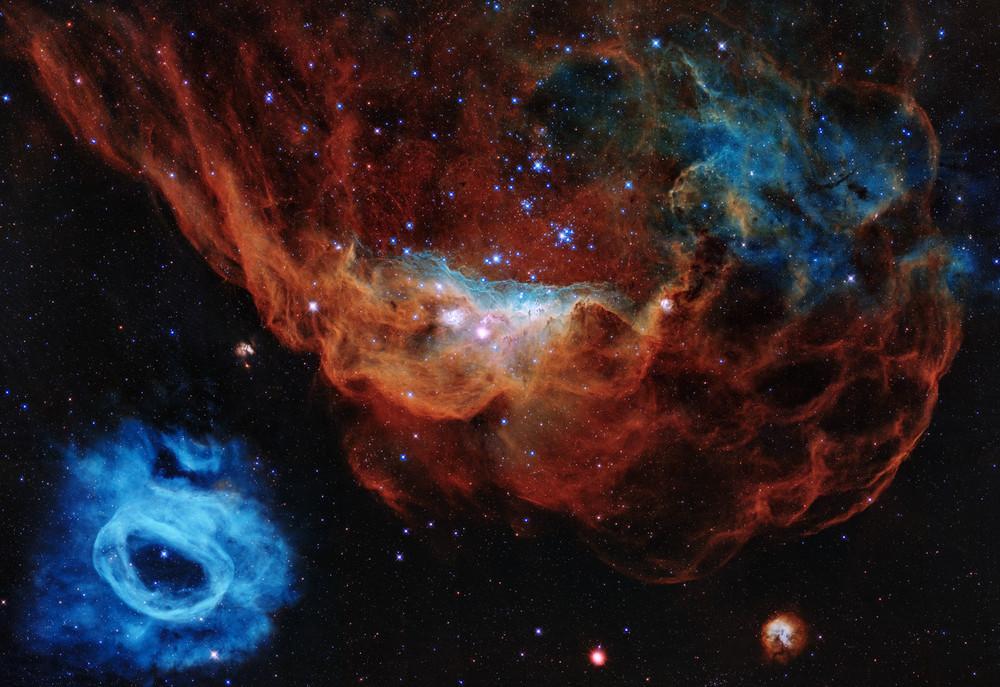 Les récifs cosmiques d\'Hubble