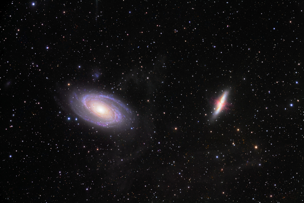 La guerre des galaxies ; M81 contre M82