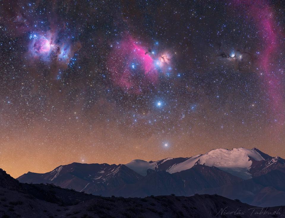Orion sur les montagnes d\'Argentine
