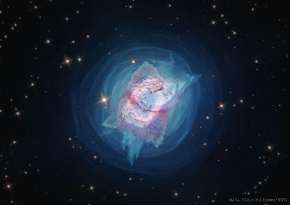La nébuleuse planétaire NGC 7027 vue par Hubble