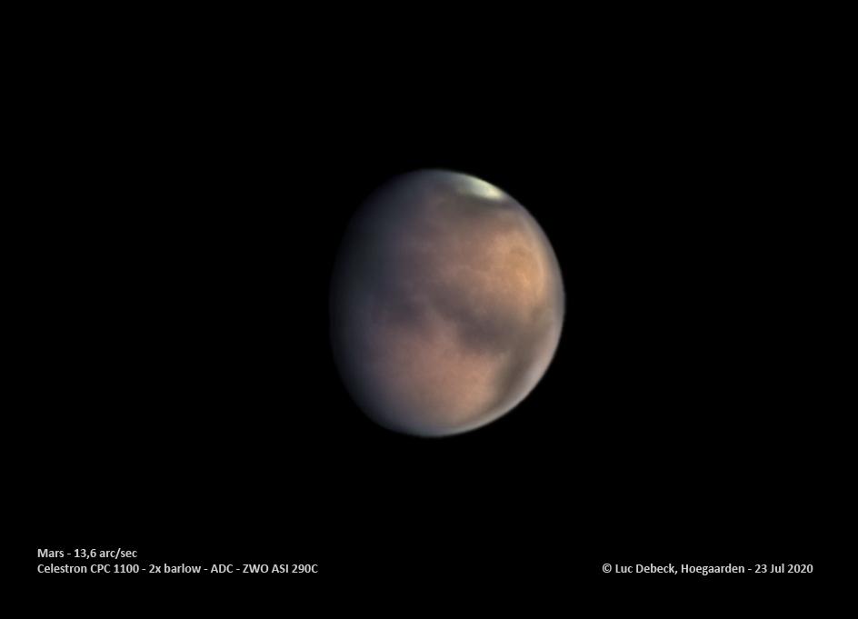 Mars, la planète rouge
