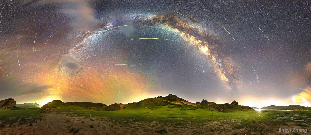 Perséides autour de la Voie lactée