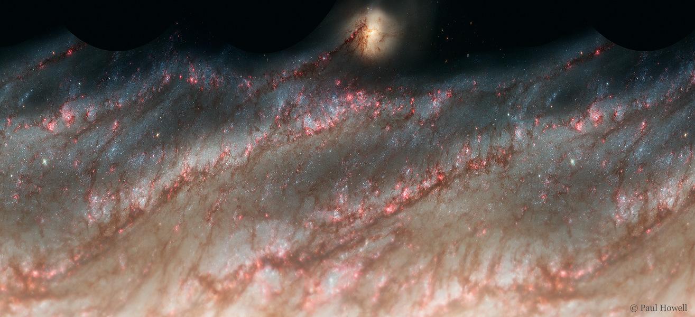 Galaxie déroulée
