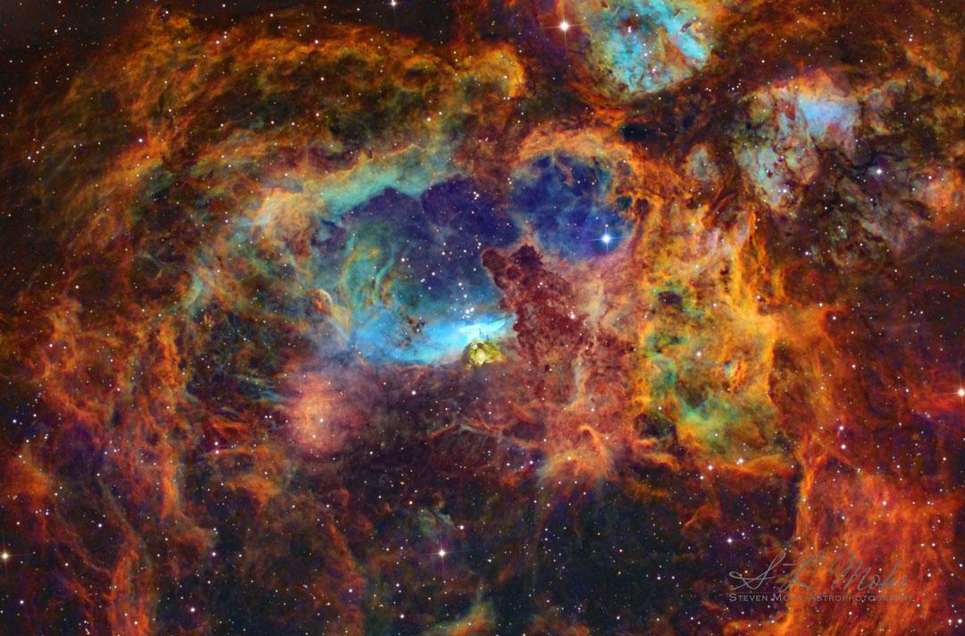 NGC 6357, la nébuleuse du Homard