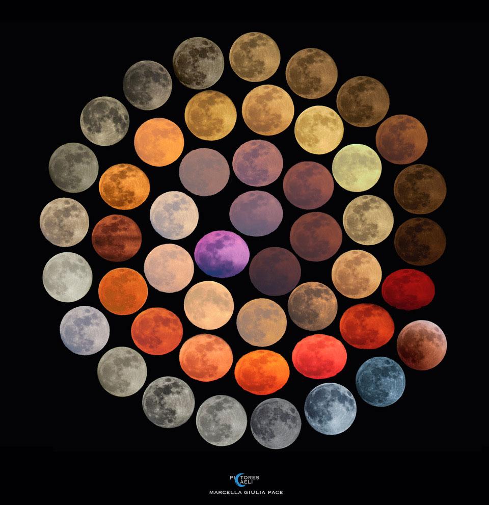 Les couleurs de la Lune