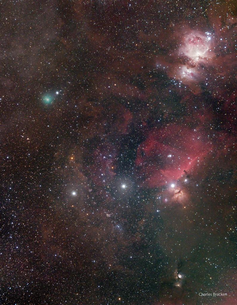 La comète Atlas et la ceinture d\'Orion