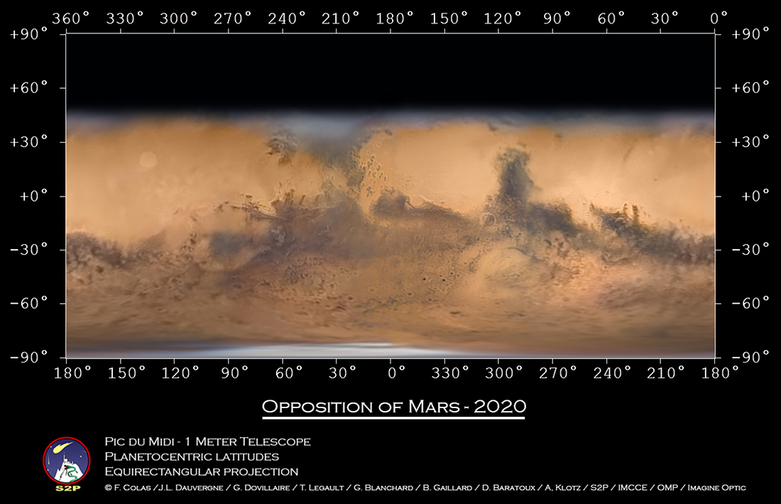 Carte de Mars à l\'opposition