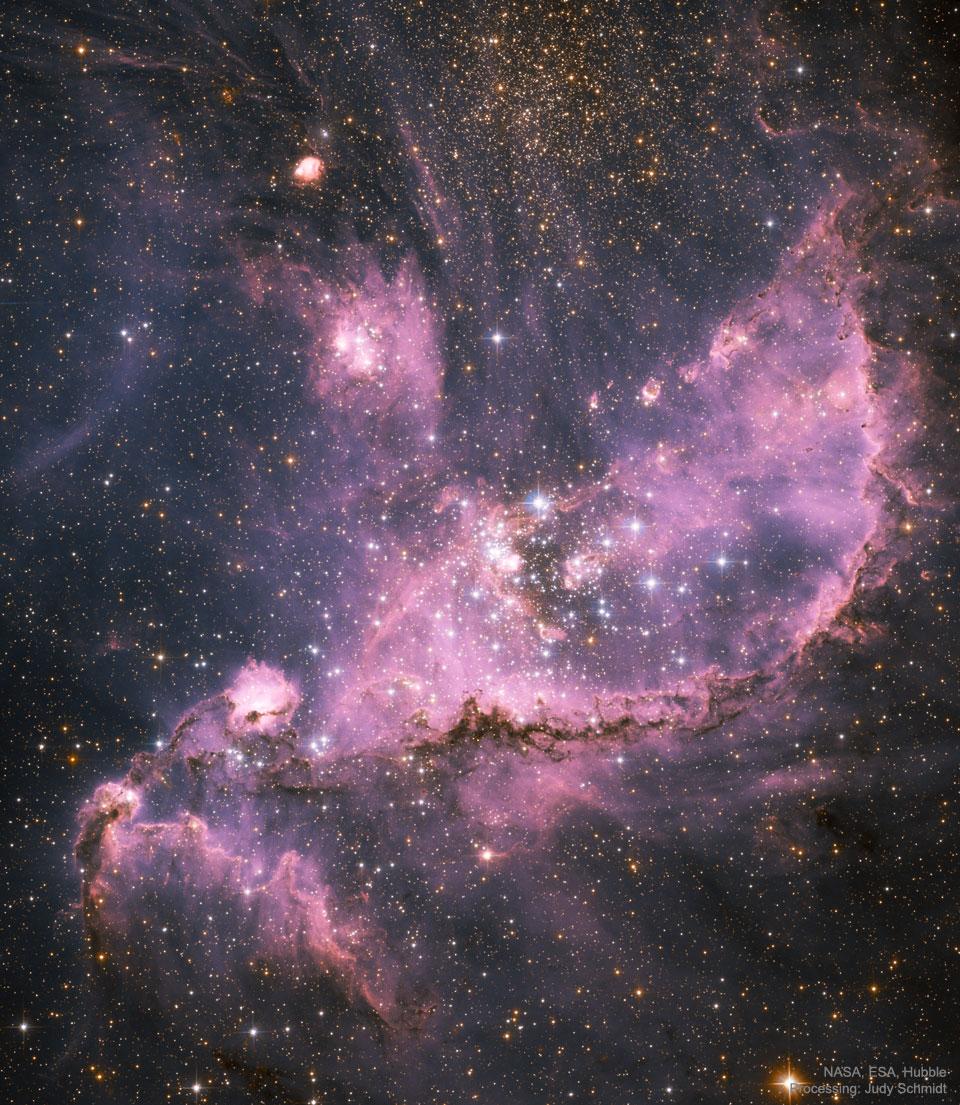 Formation d\'étoiles dans le Petit Nuage de Magellan