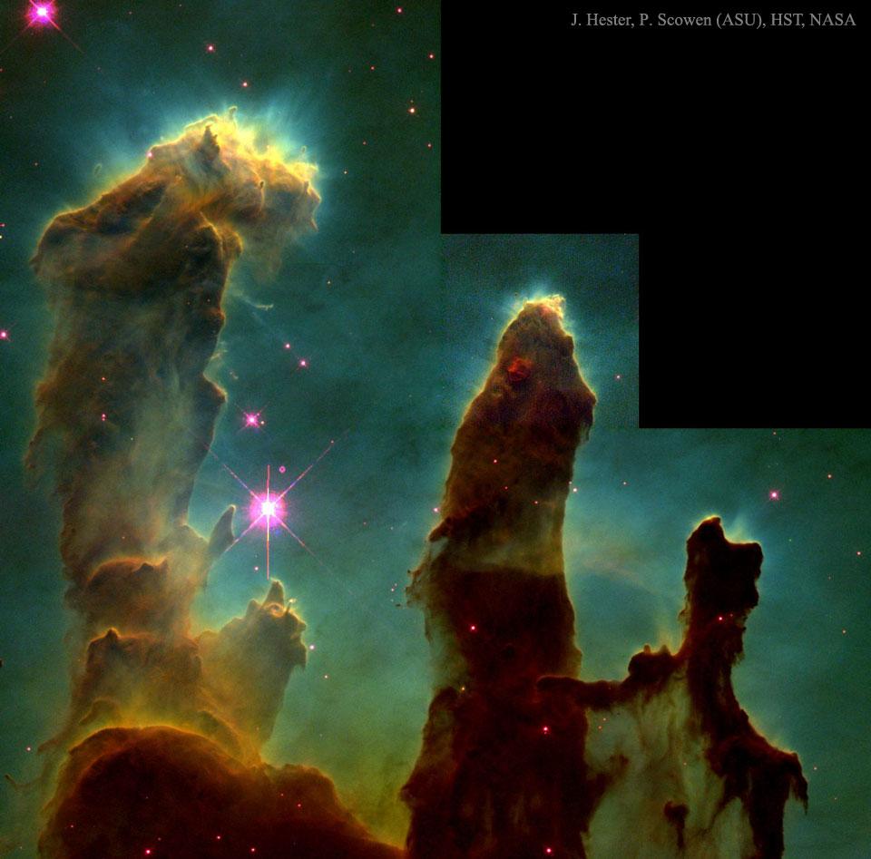 Les piliers de la création stellaire