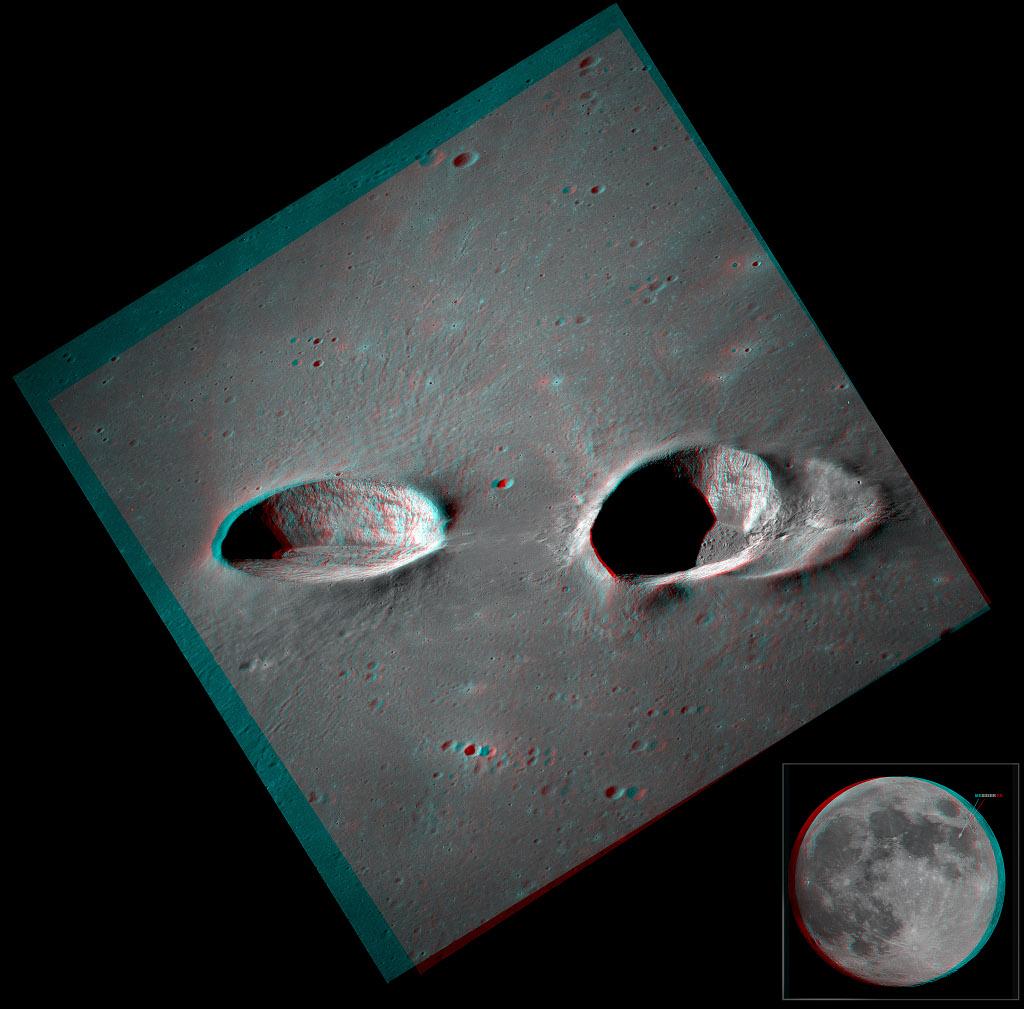 Cratères de Messier en stéréo