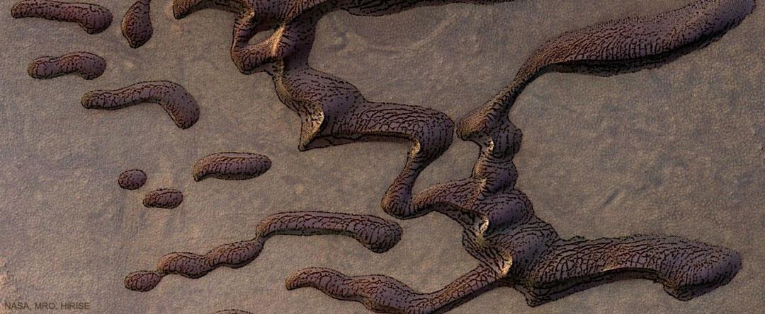 Le mystère des dunes tigrées de Mars