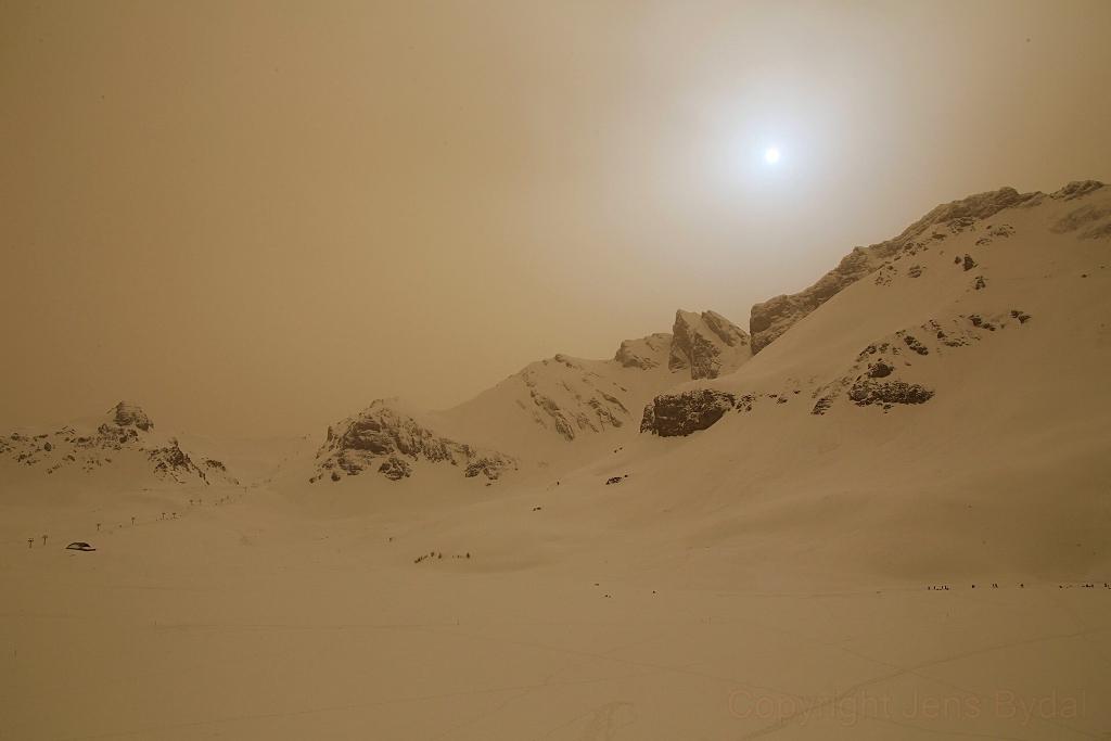 Paysage martien dans les Alpes Suisses