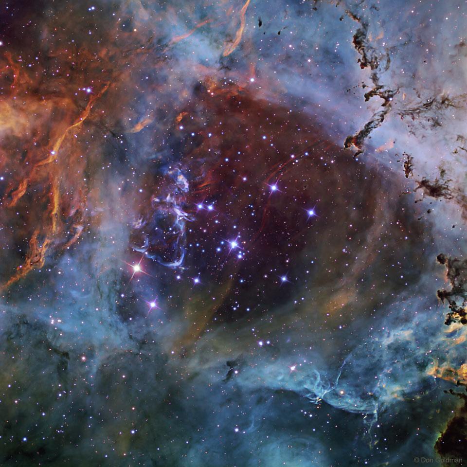 NGC 2244, l\'amas de la Rosette