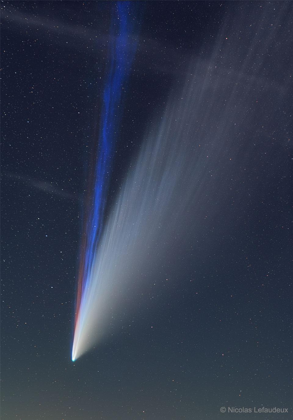 Les trois queues de la comète NEOWISE