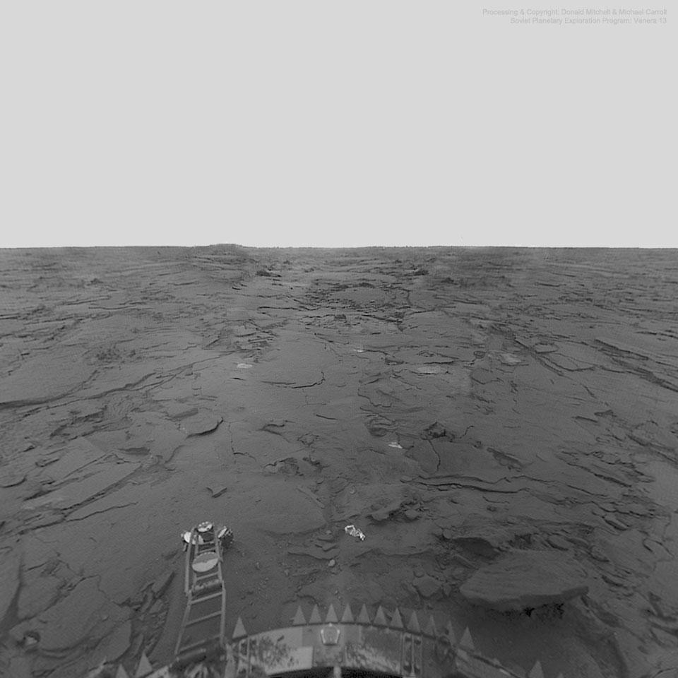 La surface de Vénus par Venera 14