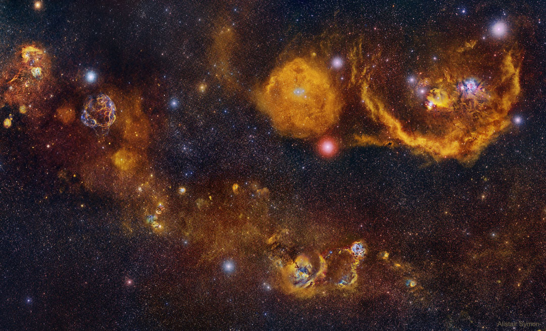 Entre les constellations du Cocher et d\'Orion
