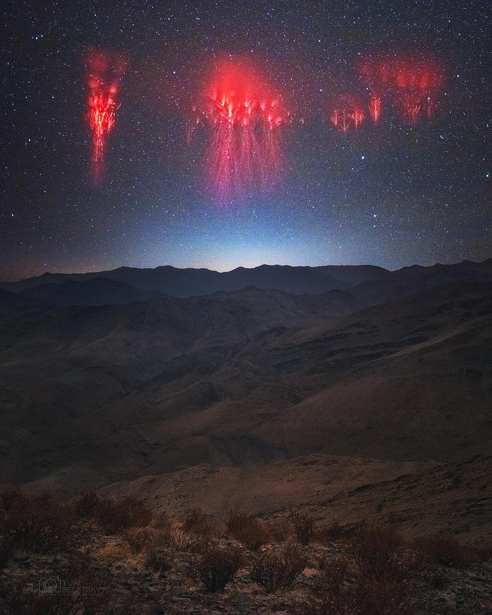 Farfadets au-dessus des Andes