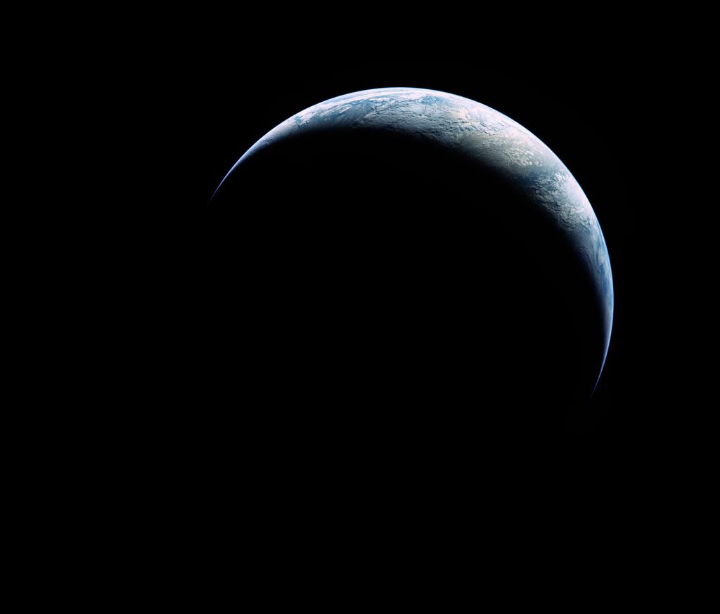 Croissant de Terre vu par Apollo 17