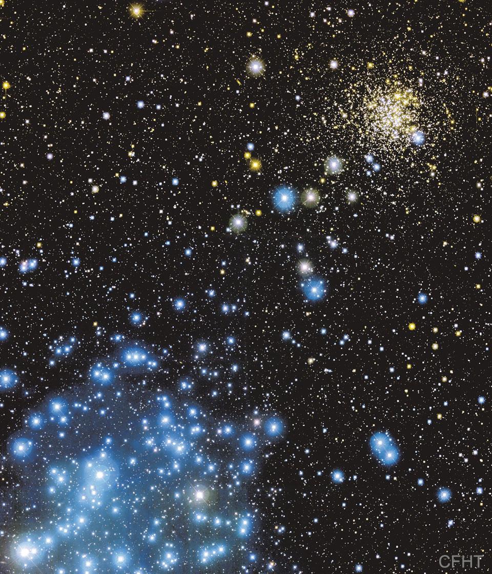 Les amas d\'étoiles M35 et NGC 2158