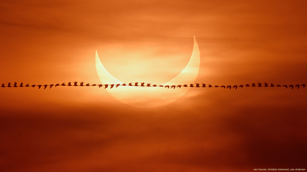Eclipse survolée