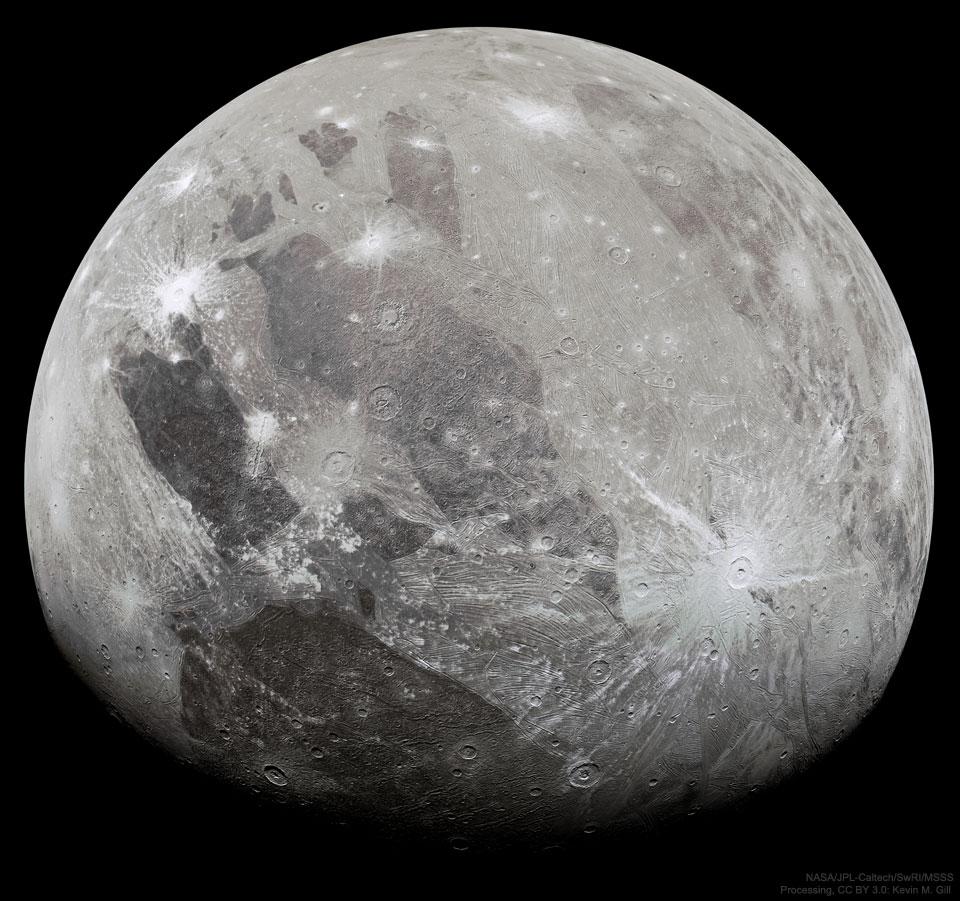 Ganymède vue par Juno