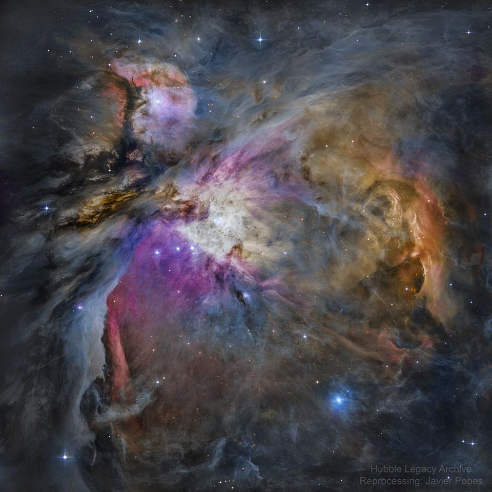 Nébuleuse d\'Orion : une vue d\'Hubble