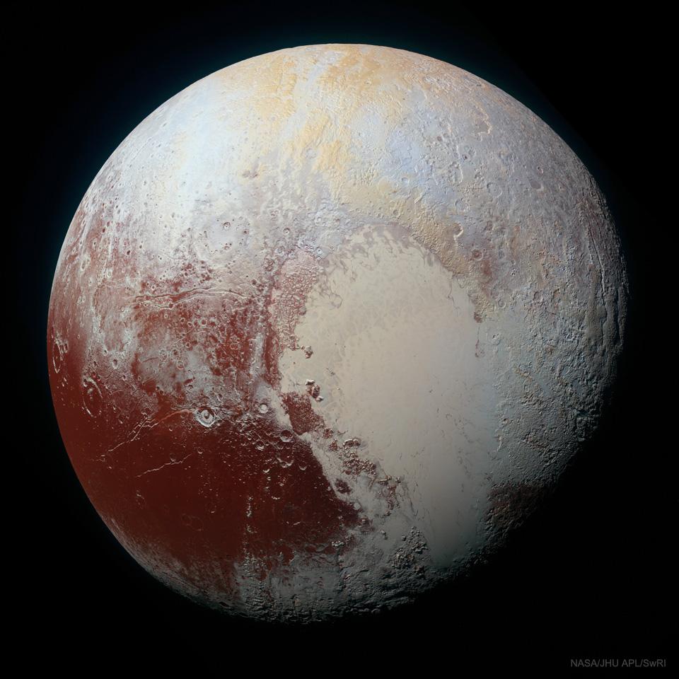 Pluton en couleurs accentuées