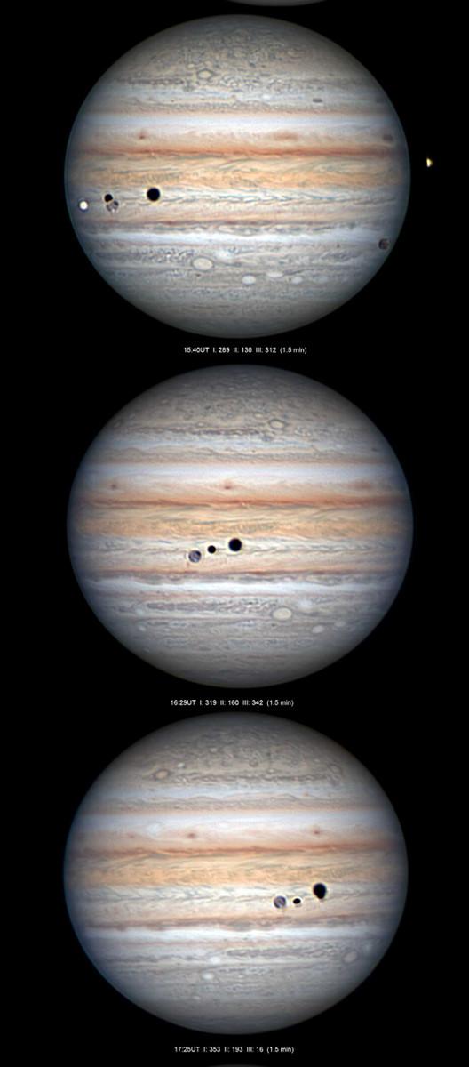 Triple transit devant Jupiter