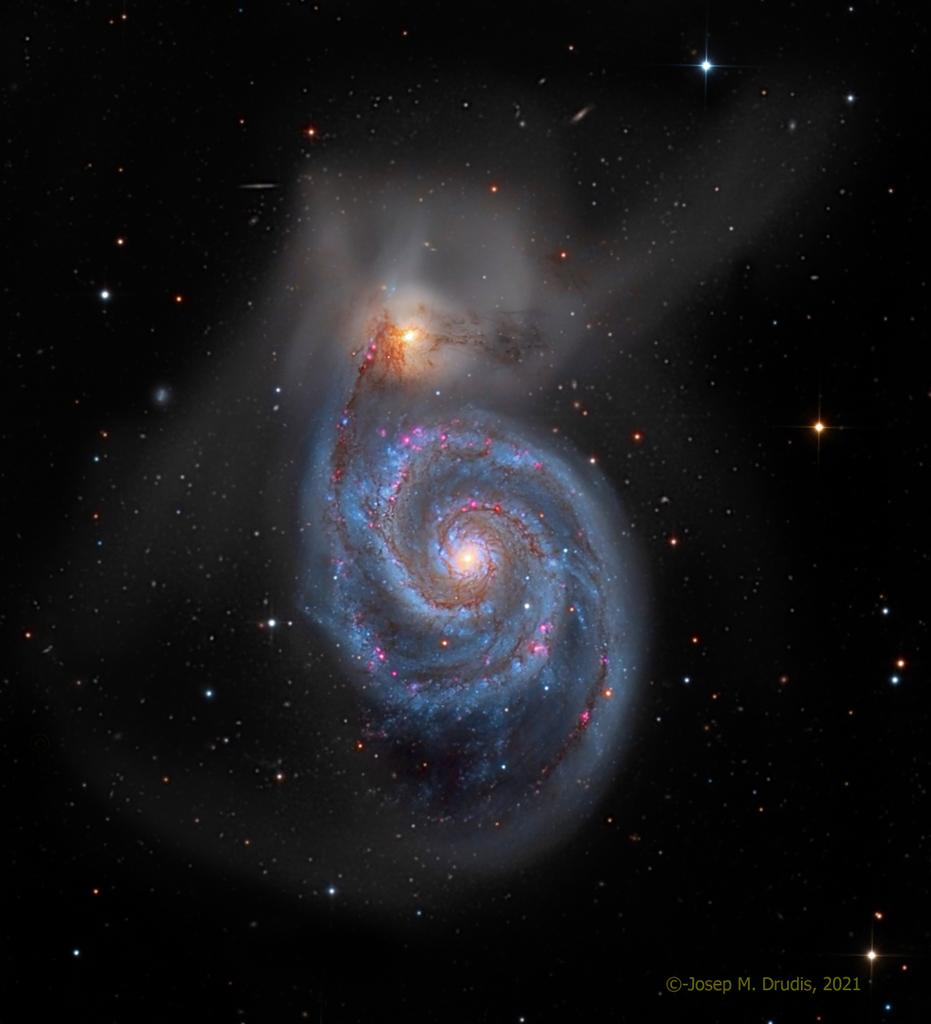 M51, la nébuleuse du Tourbillon