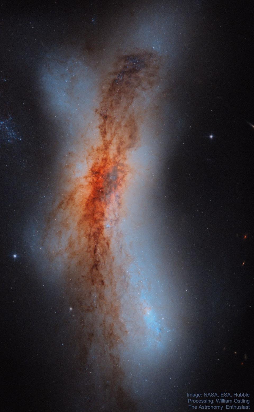 Les galaxies en collision de NGC 520
