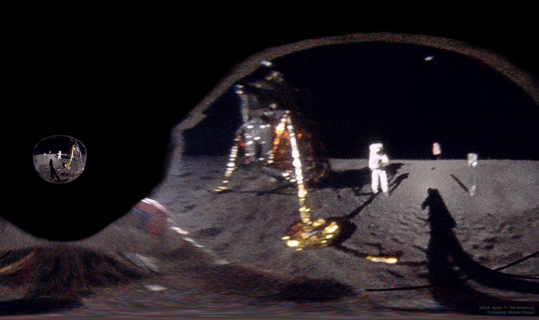 Le selfie d\'Armstrong caché depuis 50 ans dans la visière d\'Aldrin