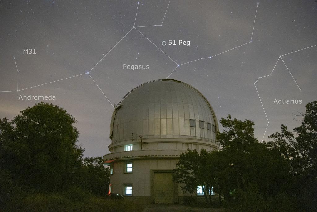 50 années-lumière pour rallier 51 Pegasi